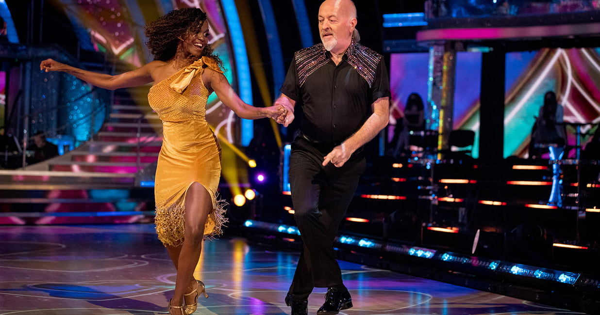couple dancing at Strictly Come Dancing